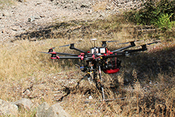 LiDAR Drone HEXA S900 before take off